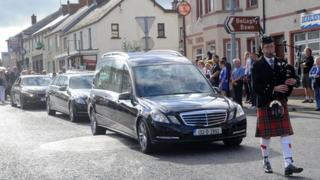 Heaney's body was returned to Bellaghy for burial