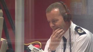 Nick Gargan being interviewed on BBC Radio Bristol