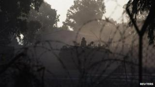Israeli troops on occupied Golan Heights, 1 September