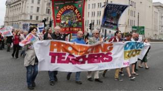 Teacher strikes