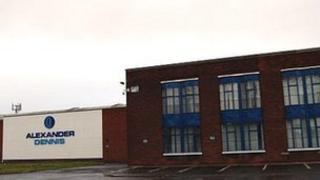 Alexander Dennis factory in Falkirk