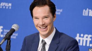 Benedict Cumberbatch at the press conference for The Fifth Estate in Toronto
