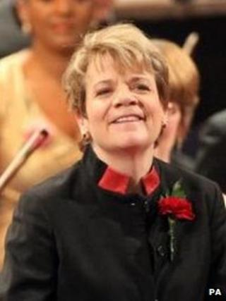 Marin Alsop performing at the Last Night of the Proms