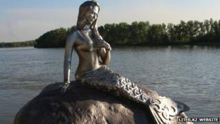 Mermaid statue in Kazakh city of Pavlodar