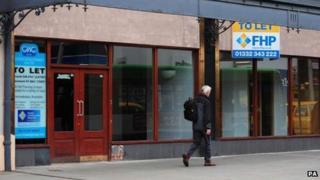 Empty shops in Derby