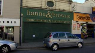 A notice of administration has been placed on the shutters at Hanna and Browne