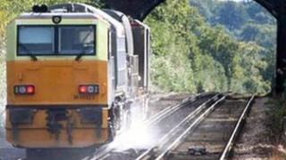 Special train that Network Rail uses to clear the leaf mulch from tracks