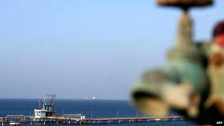 A general view shows the Hariqa oil port and loading installation in Libya on 20 August 2013