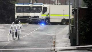 Bomb disposal experts at Ballyclare alert