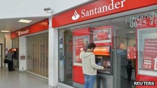 Surrey Quays branch of Santander