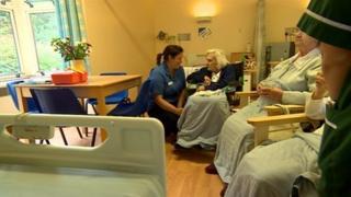 Ward at Birmingham City hospital