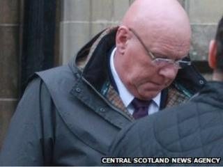 Peter Barber-Fleming leaves Stirling Sheriff Court