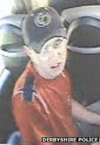 CCTV picture of a man on a bus