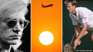 Andy Warhol, plane and Stefan Edberg