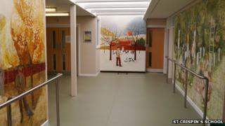 Murals at St Crispin's School