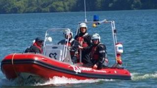 The WUKSART team prepare for their challenge on board their RIB (C) RNLI