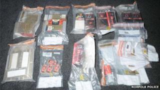 Seized ammunition