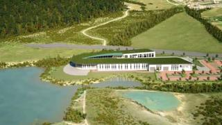 Artist's impression of proposed college site in Cinderford