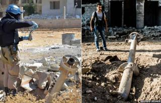 Suspected chemical weapons found in Syria
