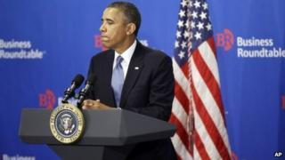 US President Barack Obama speaks in Washington. Photo: 18 September 2013