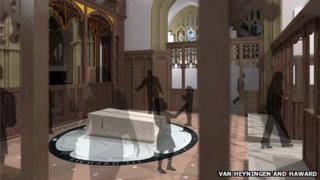 Artist's impression of tomb