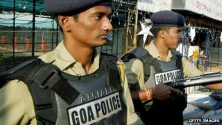 Archive image of police in Goa in 2008