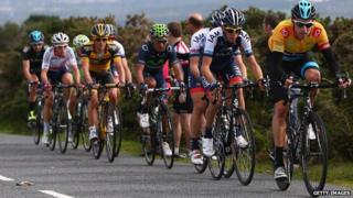 Sir Bradley Wiggins leads the Tour of Britain