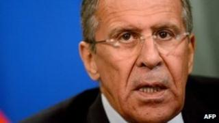 Russian Foreign Minister Sergei Lavrov speaks in Moscow, on 16 September, 2013.