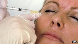 Lady having Botox