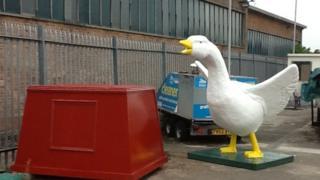 Goosey at the council depot