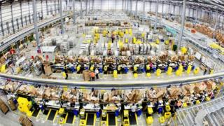 Inside one of Amazon's 'fulfilment centres'