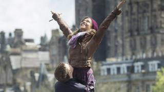 The film is set in present-day Edinburgh