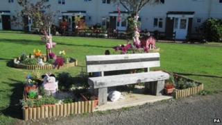 Memorial and tribute garden to April Jones