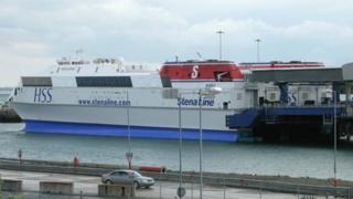 HSS Explorer at Holyhead Port