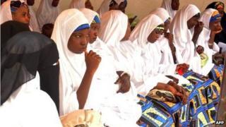 Brides at a mass wedding Kano, Nigeria - May 2012