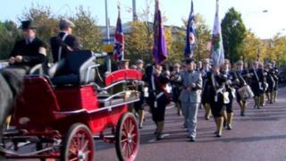 UVF commemoration parade