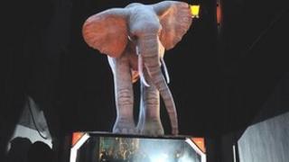 3D elephant artwork