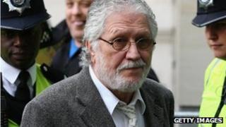 Dave Lee Travis arriving at court
