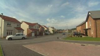 Housing development in Wishaw