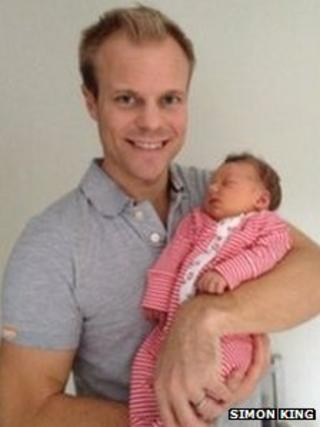 Simon King and baby Nell