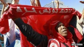 Anti-government protest in Tunis, 26 September