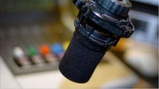 radio microphone in studio generic