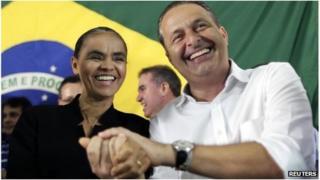 Marina Silva and Eduardo Campos