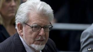 Rolf Harris arrives at Westminster Magistrates' Court in London on Monday 23 September