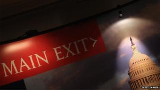 Capitol Hill exit sign