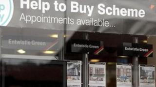 Help to Buy scheme in window