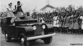 Queen and Prince Phillip in Ibadan, Nigeria