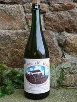 Bottle of Jersey cider