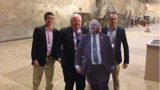 Communities secretary Eric Pickles meets the cut-out which toured the US