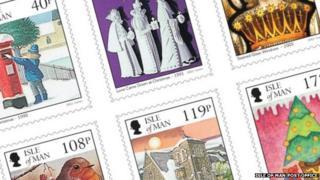 Isle of Man Christmas Stamps
